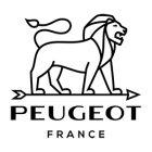 LOGO PEUGEOT - ROUGE CMJN SUR FOND BLANC